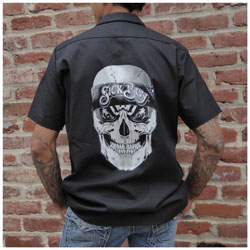 Sick Boy Men's Bandana Skull Black Work Shirt