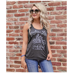 Sick Boy Women's Love a Sick Boy Gray Tank Top