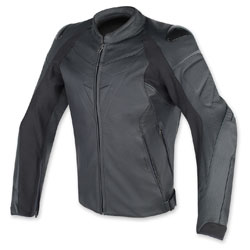 Dainese Men's Fighter Black Leather Jacket