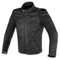 Dainese Men's Street Darker Perforated Black Leather Jacket