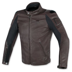 Dainese Men's Street Darker Perforated Dark Brown Leather Jacket
