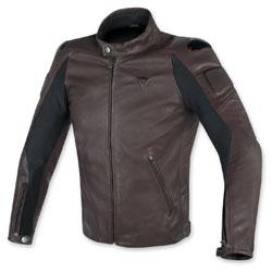 Dainese Men's Street Darker Perforated Dark Brown Leather Jacket