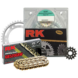 RK Chains 520 15x48 Steel Quick Acceleration Chain and Sprocket Kit