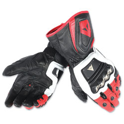 Dainese Men's 4 Stroke Long White/Red/Black Gloves