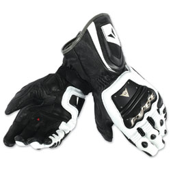 Dainese Men's 4 Stroke Long White/Black Gloves