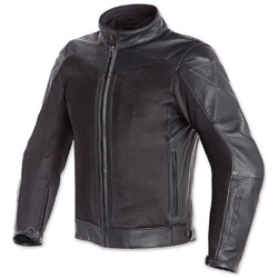 Dainese Men's Corbin D-Dry Black Leather Jacket