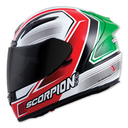 Scorpion EXO EXO-R2000 Launch Red/Green Full Face Helmet