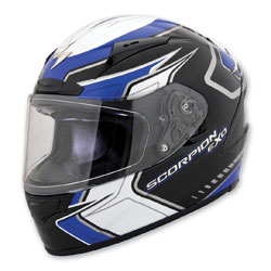 Scorpion EXO EXO-R2000 Circuit Blue Full Face Helmet
