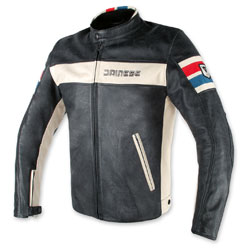 Dainese Men's HF D1 Perforated Black Leather Jacket