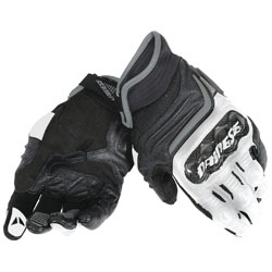 Dainese Men's Carbon D1 Short Black/White/Anthracite Gloves