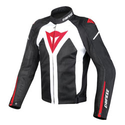 Dainese Men's Hyper Flux D-Dry White/Black/Red Jacket