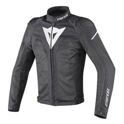 Dainese Men's Hyper Flux D-Dry Black/Black/White Jacket