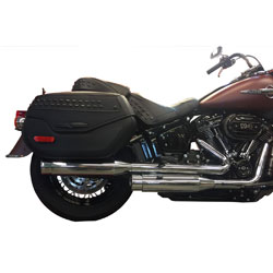 TAB Performance Chrome Slip On Mufflers with Chrome Straight Tips