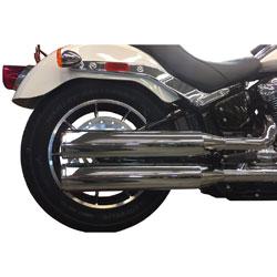 TAB Performance Long Chrome Slip On Mufflers with Chrome Straight Tips