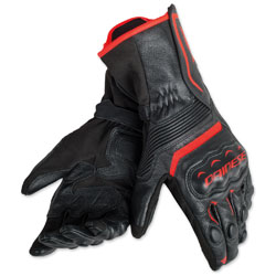 Dainese Men's Assen Black/Black/Fluo Red Gloves