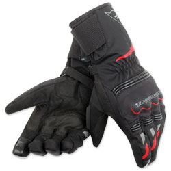 Dainese Unisex Tempest D-Dry Long Black/Red Gloves