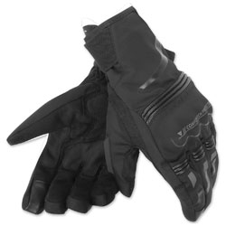 Dainese Unisex Tempest D-Dry Short Black Gloves