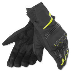 Dainese Unisex Tempest D-Dry Short Black/Fluo Yellow Gloves