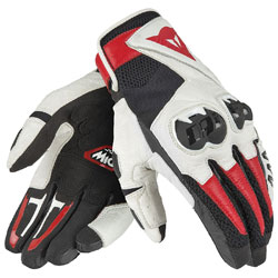 Dainese Unisex MIG C2 Black/White/Lava Red Gloves