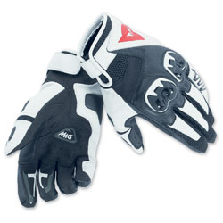 Dainese Unisex MIG C2 Black/White/Black Gloves