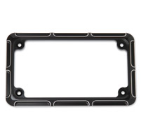 Arlen Ness Beveled Black License Plate Frame