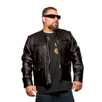 5 Ball Special Ops Black Leather Jacket