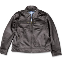5 Ball Eisenhower Black Leather Jacket