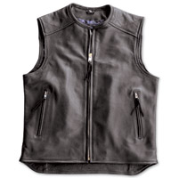 Crank & Stroker Supply Hardball Motorcycle Black Leather Vest
