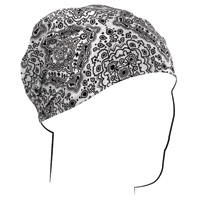 ZAN headgear White Paisley Headwrap