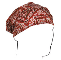 ZAN headgear Red Paisley Headwrap