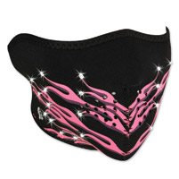 ZAN headgear Highway Honey Pink Flames Neoprene Half Mask