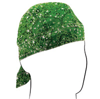 ZAN headgear Green Paisley Flydanna Headwrap