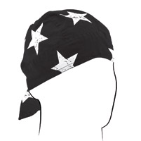 ZAN headgear Black and White Vintage American Flag Flydanna Headwrap