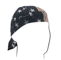 ZAN headgear Vintage American Flag Flydanna Headwrap
