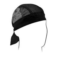 ZAN headgear Reflective Skull Vented Sport Flydanna Headwrap