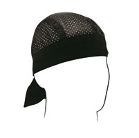 ZAN headgear Black Vented Sport Flydanna Headwrap