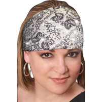 That's A Wrap Bandana White Knotty Band with Rhinestones