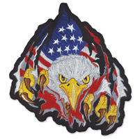 Lethal Threat Rip N Tear Eagle Large Embroidered Patch