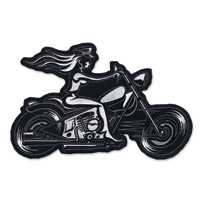 Lethal Threat Biker Chick Embroidered Patch