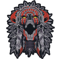 Lethal Threat Indain Skull Embroidered Patch