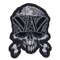 Lethal Threat Skull Bandana Embroidered Patch