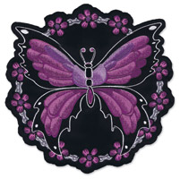 Lethal Threat Butterfly Chain Embroidered Patch