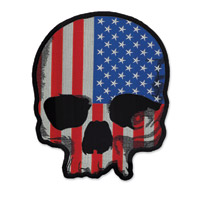 Lethal Threat USA Flag Skull Large Embroidered Patch