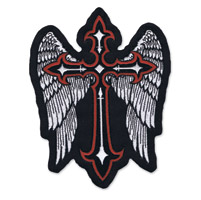 Lethal Threat Winged Cross Large Embroidered Patch