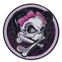 Lethal Threat Girl Skull Spider Web Embroidered Patch