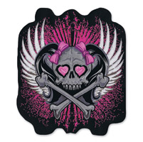 Lethal Threat Girl Skull Center Embroidered Patch