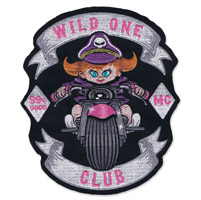 Lethal Threat Wild One Baby Girl Embroidered Patch