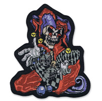 Lethal Threat Jester Mini Embroidered Patch
