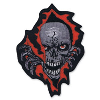 Lethal Threat Rip Skull Mini Embroidered Patch
