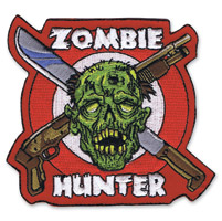 Lethal Threat Zombie Hunter Mini Embroidered Patch